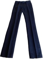 CNC Costume National Blue Linen Trousers for Women