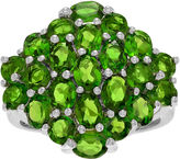 FINE JEWELRY Genuine Chrome Diopside Sterling Silver Cluster Ring