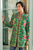 Soft Surroundings Floral Embroidered Jacket