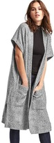 Gap Fleece open-front duster cardigan