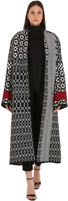 Haider Ackermann Acetate Blend Intarsia Knit Coat