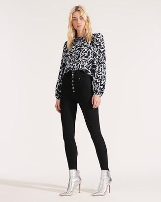 Veronica Beard Katherine Corset Waist High-Rise Skinny Jean