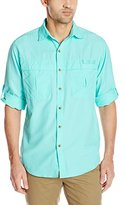 G.H. Bass Men's Solid Explorer Shirt With Roll-up Sleeve