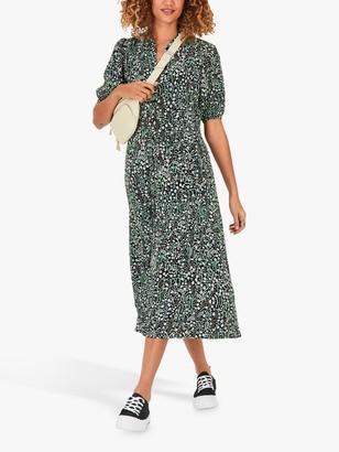 Hush Sienna Ditsy Garden Floral Midi Shirt Dress, Multi