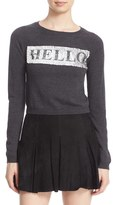Alice + Olivia Women's Hello Goodbye Embellished Wool Blend Sweater