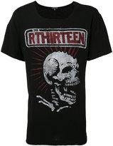 R 13 punk skeleton print T-shirt