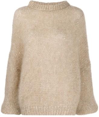 Brunello Cucinelli Long Sleeve Chunky Knit Jumper