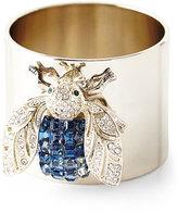 Joanna Buchanan Blue Sparkle Bee Napkin Rings, Set of 2