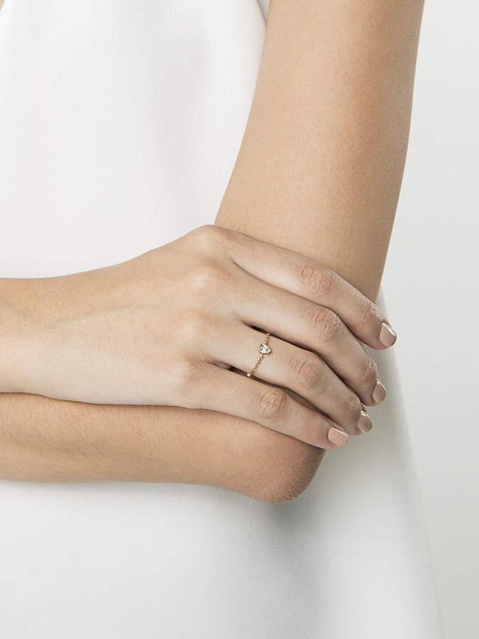 Anita Ko Metallic diamond chain ring