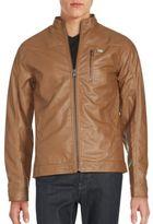 Buffalo David Bitton Glossy Solid Long Sleeve Jacket