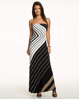 Le Château Stripe Jersey Strapless Maxi Dress