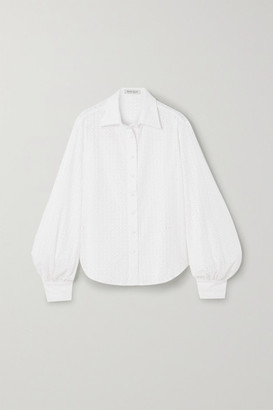 ANNA QUAN Bea Broderie Anglaise Cotton Shirt - Ivory