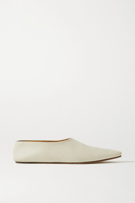 The Row Leather Ballet Flats - Ivory
