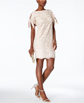 Vince Camuto Lace Tie-Sleeve Shift Dress