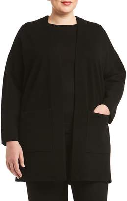 Toni T by Toni Plus Double-Knit Merino Wool Cardigan