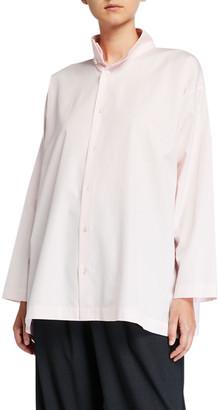 eskandar Slim A-Line Two-Collar Shirt