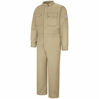 Bulwark Flame Resistant 7 oz Cooltouch 2 Regular Deluxe Coverall with Concealed Snap Closure On Sleeve Cuff
