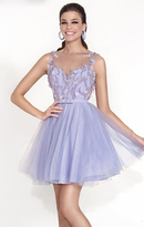 Tarik Ediz Illusion Bateau A-Line Dress 90427