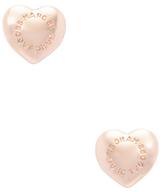 Domed Logo Heart Stud Earrings
