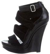 Rachel Zoe Crossover Platform Wedge Sandals