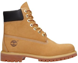 Timberland 6in Prem Combat Boots In Yellow Suede