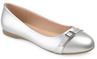 Brinley Co. Women's Faux Leather Buckle Detail Comfort-sole Flats
