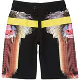 Marcelo Burlon County of Milan MONKEY-PRINT COTTON FRENCH TERRY SHORTS