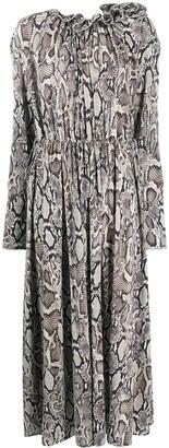 Magda Butrym Snake-Skin Print Maxi Dress