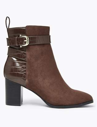 M&S CollectionMarks and Spencer Buckle Block Heel Ankle Boots