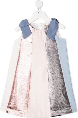 Hucklebones London Rainbow Trapeze panelled dress