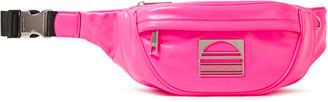 Marc Jacobs Logo-embellished Neon Textured-leather Belt Bag
