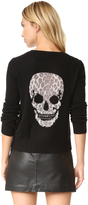 360 Sweater Raj Leopard Skull Sweater