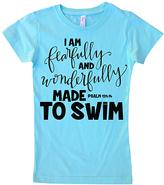Micro Me Aqua 'Made to Swim' Crewneck Tee - Toddler & Girls