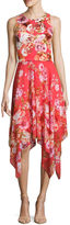 Robbie Bee Sleeveless Floral Fit & Flare Dress-Petites
