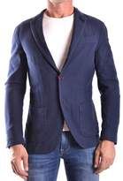 Altea Men's Blue Cotton Blazer.