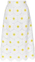 Dolce & Gabbana Cotton Blend Macramé Daisy Skirt