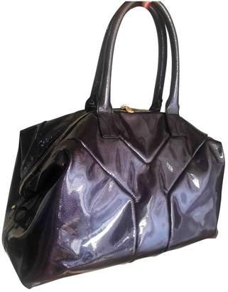 Saint Laurent Easy Purple Patent leather Handbags