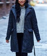 Steve Madden Women's Non-Denim Casual Jackets CHARCOAL - Charcoal Heather Tie-Waist Wool-Blend Coat - Women & Plus
