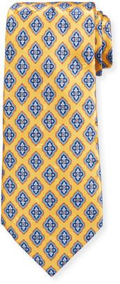 Ermenegildo Zegna Men's Fancy Diamonds Silk Tie