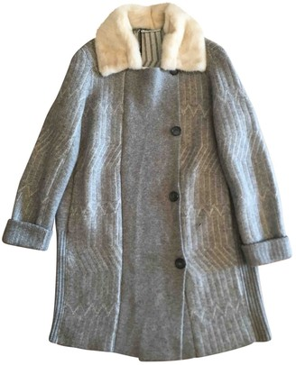 Agnona Grey Cashmere Coat for Women