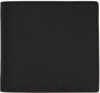 Alexander McQueen Black Perforated Bifold Wallet