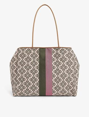 Kate Spade Spade Flower stripe and floral-jacquard tote bag