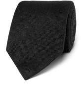 Tom Ford 8cm Wool And Silk-blend Tie - Black