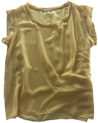American Vintage Yellow Silk Top for Women