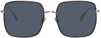 Christian Dior Gold and Black DiorByDior3F Sunglasses