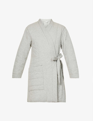 Skin Stormie short quilted cotton robe