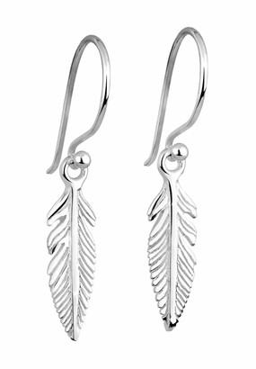 Elli Earrings Women Filigree Feather Boho Festival 925 Sterling Silver