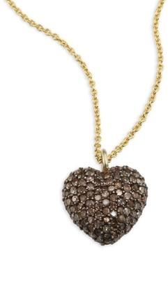 Nina Gilin Diamond Heart Pendant Necklace