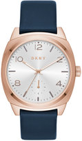DKNY Women's Broome Navy Leather Strap Watch 36mm NY2538