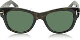Tom Ford CARY FT0058 52N Havana Acetate Sunglasses